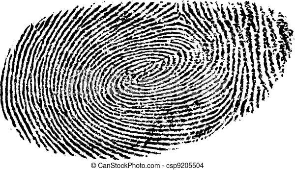 empreinte doigt - csp9205504