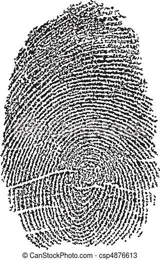 empreinte doigt - csp4876613