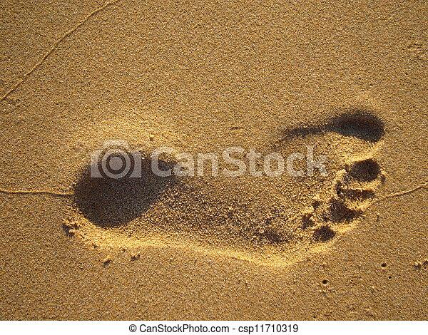 empreinte, sable - csp11710319