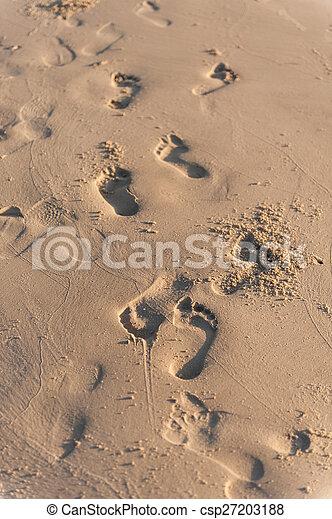 empreinte, sable - csp27203188