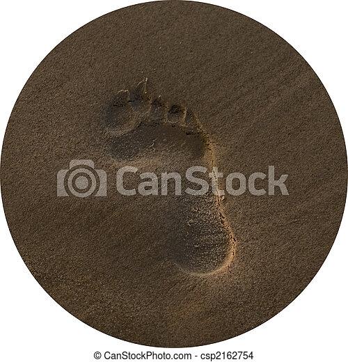 empreinte, sable - csp2162754