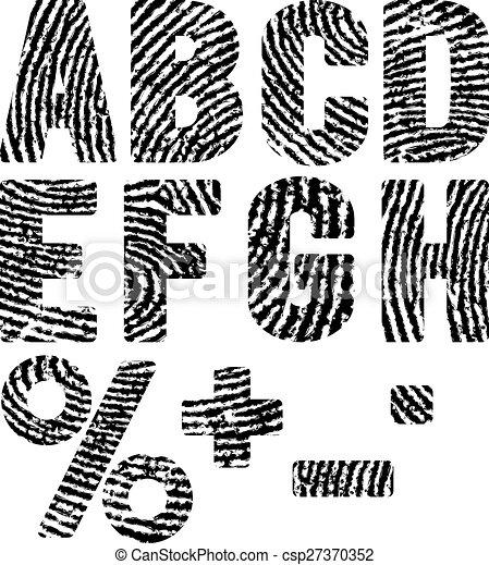 empreintes digitales - csp27370352