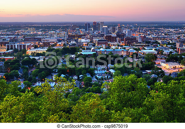 en ville, alabama, birmingham - csp9875019