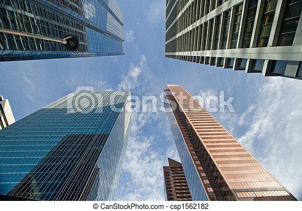 en ville, bâtiment, bureau - csp1562182