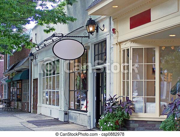 en ville, magasins - csp0882978