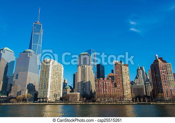 en ville, panorama, manhattan - csp25515261