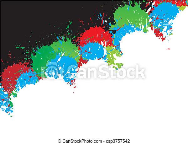 encre, splat, conception - csp3757542