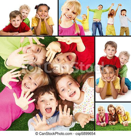 enfants, joyeux - csp5899654