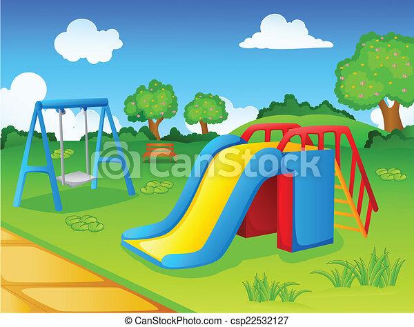 enfants, parc jeu - csp22532127