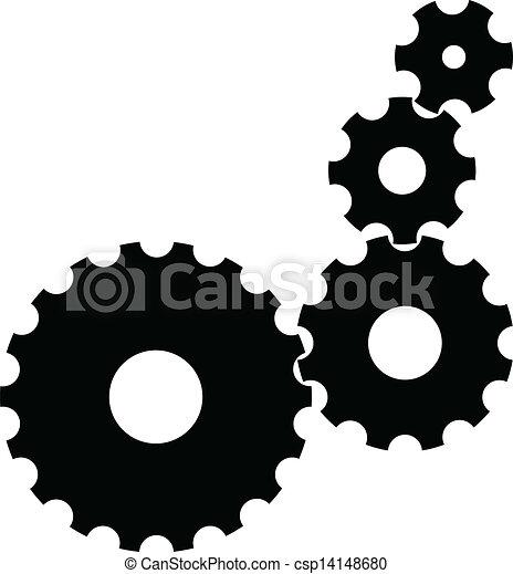 engrenages, vecteur - csp14148680