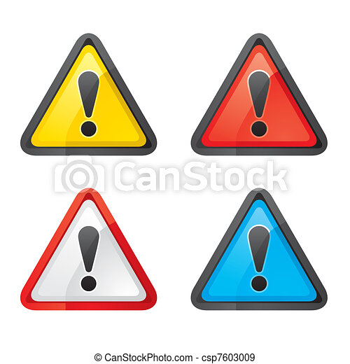 ensemble, avertissement, danger, attention, signe - csp7603009