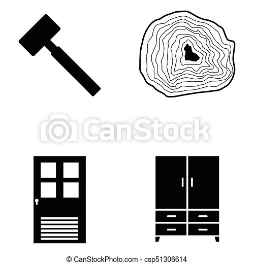 ensemble, charpentier, icône - csp51306614