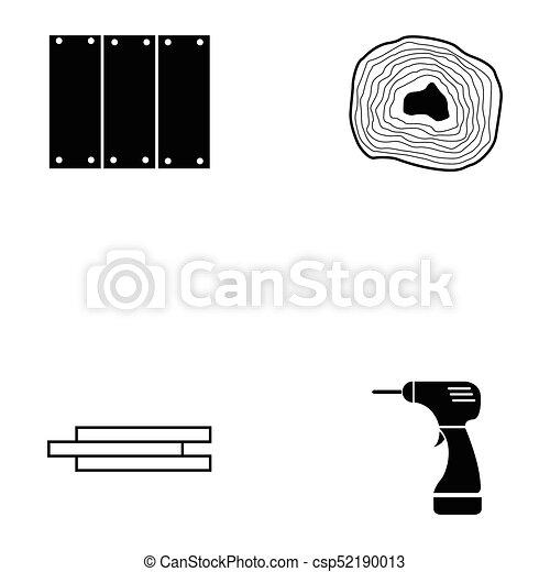 ensemble, charpentier, icône - csp52190013