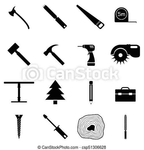 ensemble, charpentier, icône - csp51306628