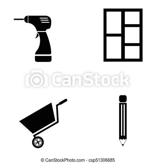 ensemble, charpentier, icône - csp51306685