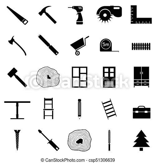 ensemble, charpentier, icône - csp51306639