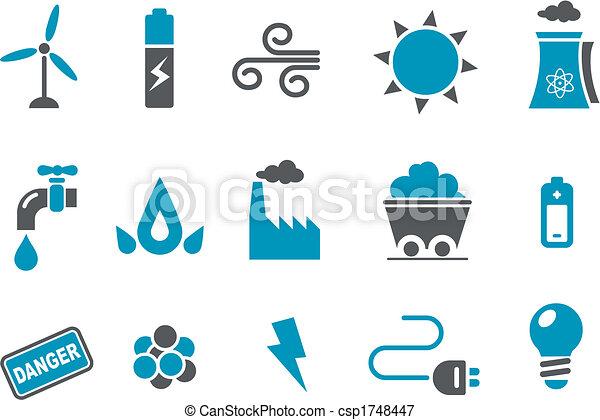 ensemble, icône, énergie - csp1748447