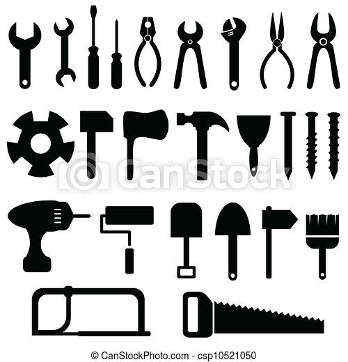 ensemble, outils, icône - csp10521050