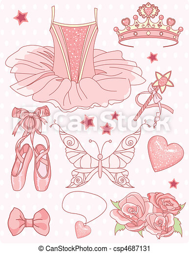 ensemble, princesse, ballerine - csp4687131