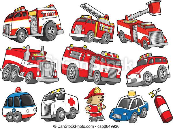 ensemble, transport, secourez véhicule - csp8649936