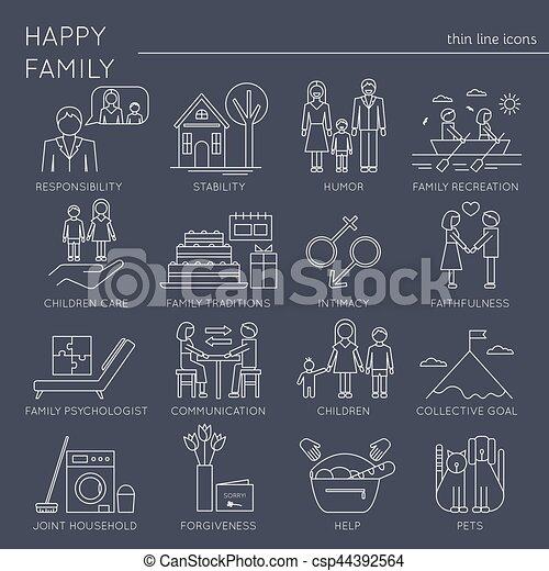 ensemble, valeurs, famille - csp44392564