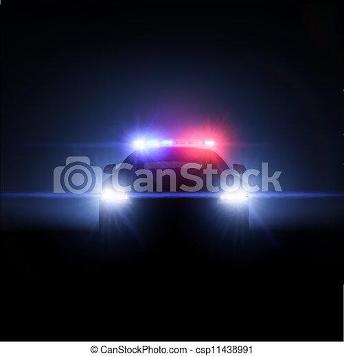 entiers, surveiller voiture, lights., illustration, vecteur, étalage - csp11438991