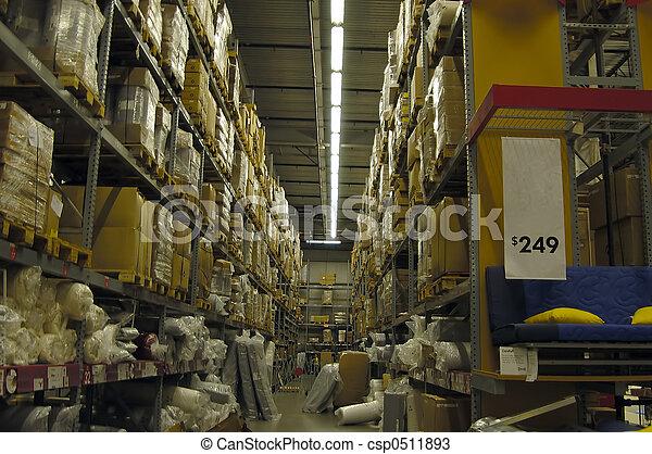 entrepôt, intérieur - csp0511893