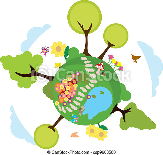 environnement, la terre, fond - csp9608580