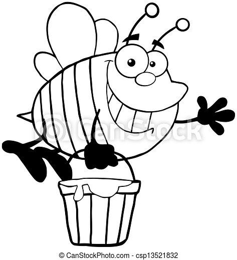 esquissé, abeille - csp13521832