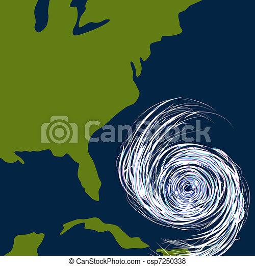 est, ouragan, dessin, côte - csp7250338