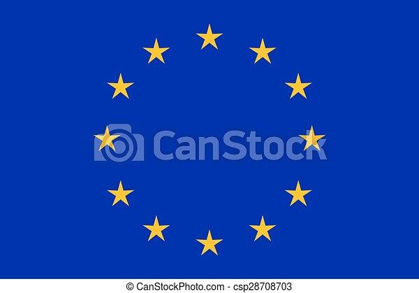 eu, drapeau, closeup - csp28708703