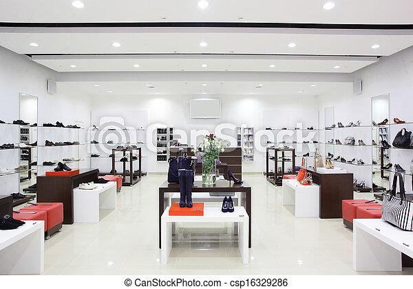 européen, chaussures, magasin, luxe - csp16329286