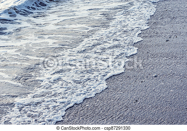 evening., eau, mer, vague - csp87291330