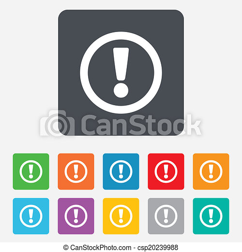 exclamation, icon., attention, mark., signe - csp20239988