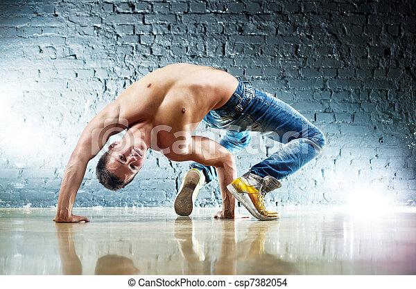 exercices, homme, jeune, sports - csp7382054