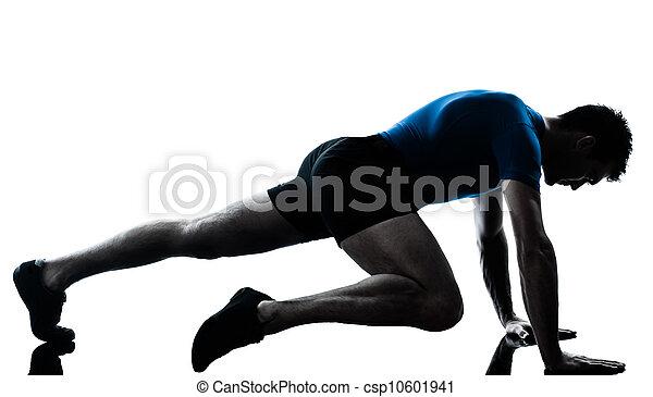exercisme, séance entraînement, homme, fitness, attitude - csp10601941