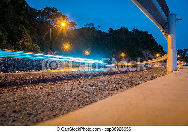 exposure., soir, trafic, long - csp36926656