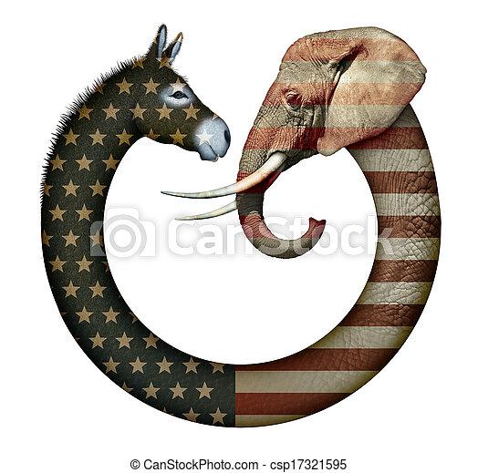 fête, animaux, politique - csp17321595