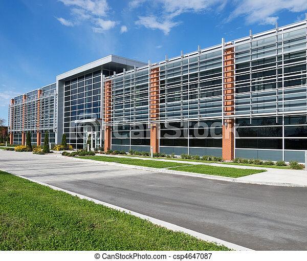 façade bâtiment, bureau - csp4647087