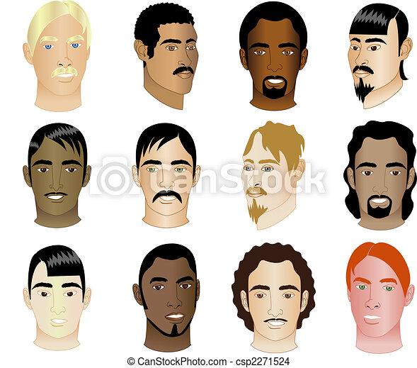 faces, 1, hommes, 12 - csp2271524