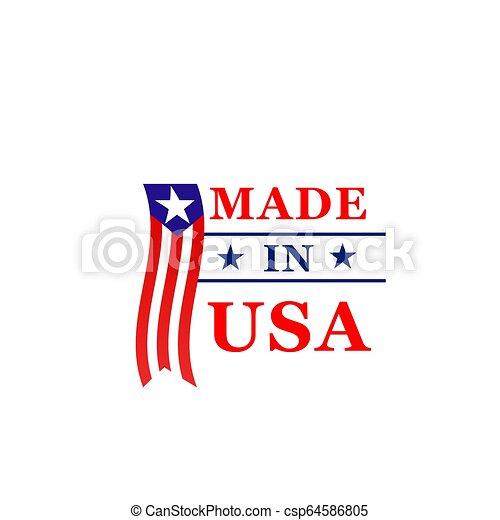 fait, drapeau etats-unis, vecteur, amérique, icône - csp64586805