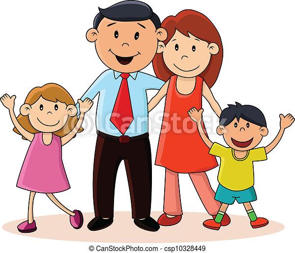 famille heureuse - csp10328449