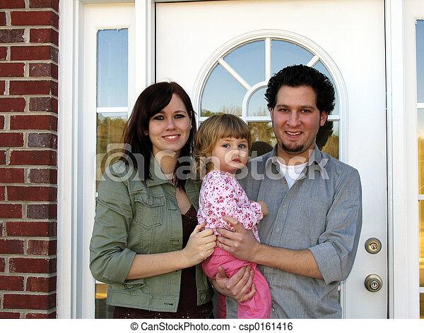 famille, nouvelle maison - csp0161416