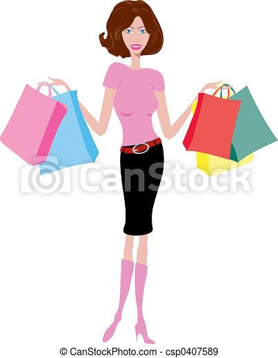 femme, achats - csp0407589