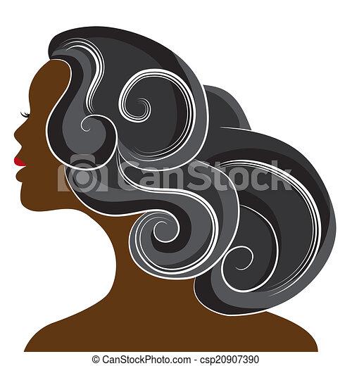 femme, africaine - csp20907390