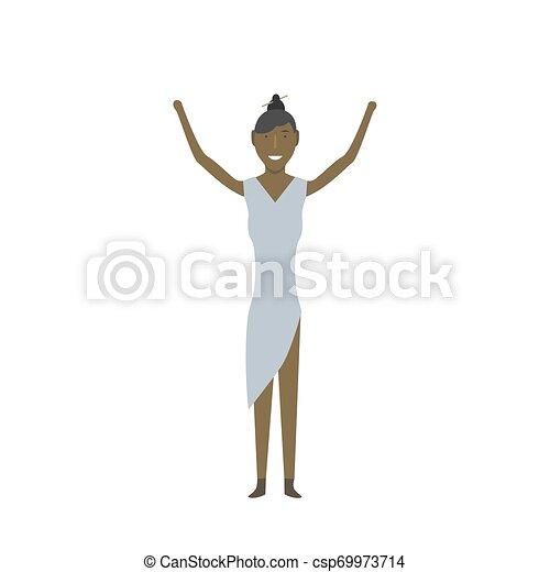 femme américaine, africaine - csp69973714
