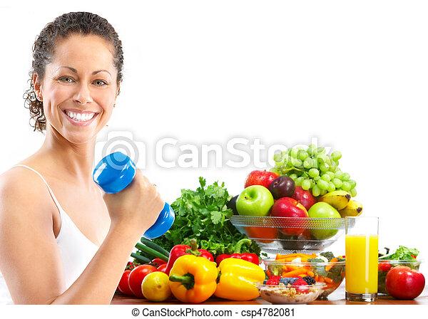 femme, fitness - csp4782081