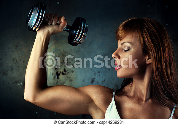 femme, jeune, sports - csp14269231