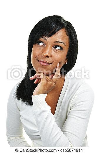femme pensée, jeune - csp5874914