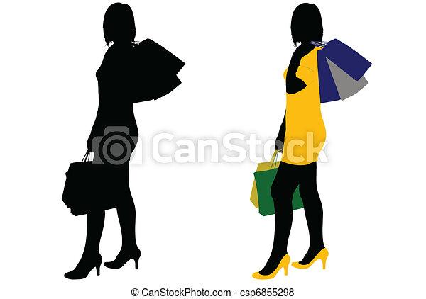 femmes commerciales - csp6855298